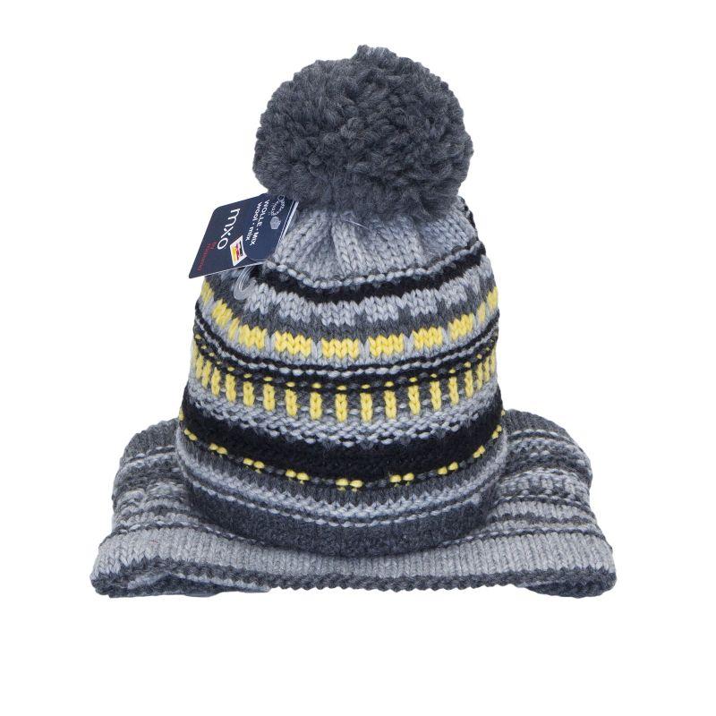 Комплект вязаный: шапка с помпоном + снуд для мальчика