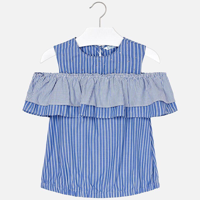 Блуза с открытыми плечами для девочки