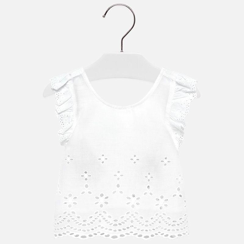 Блуза с прошвой для девочки