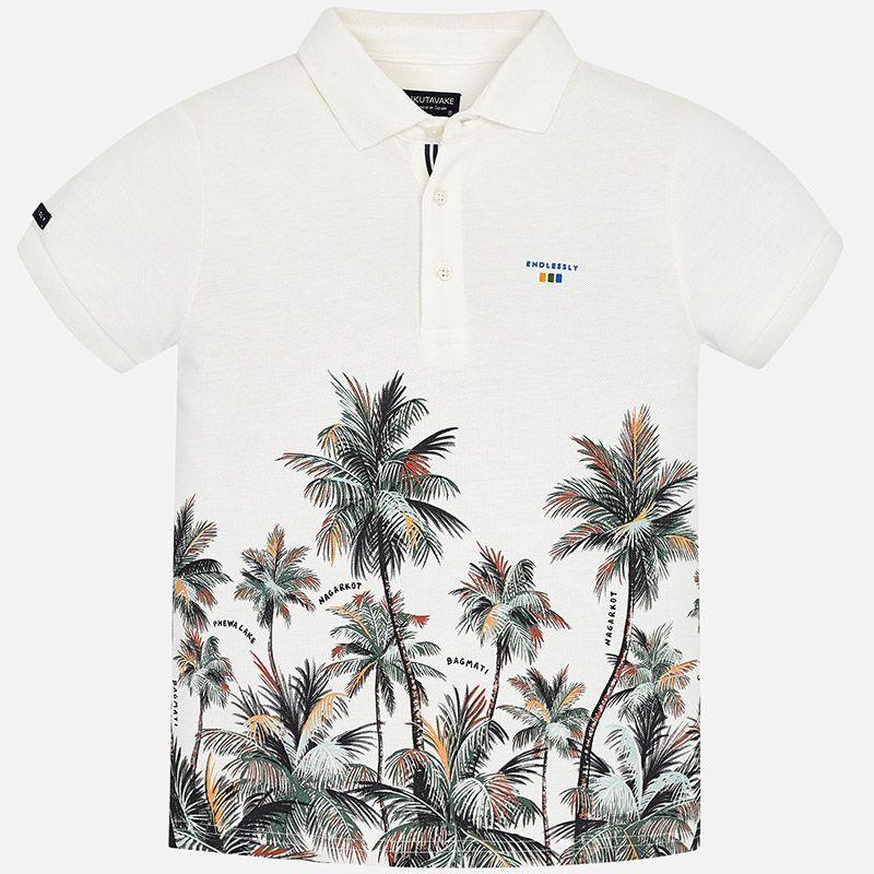 """Поло с коротким рукавом """"пальма"""" для мальчика"""