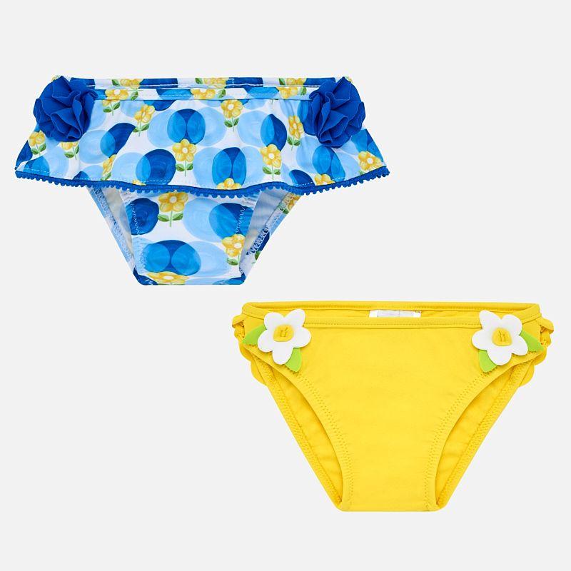 Комплект купальных трусиков из 2-х для девочки