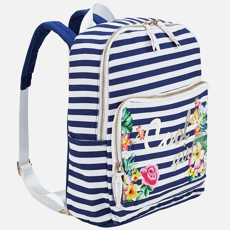 Рюкзак полосатый для девочки