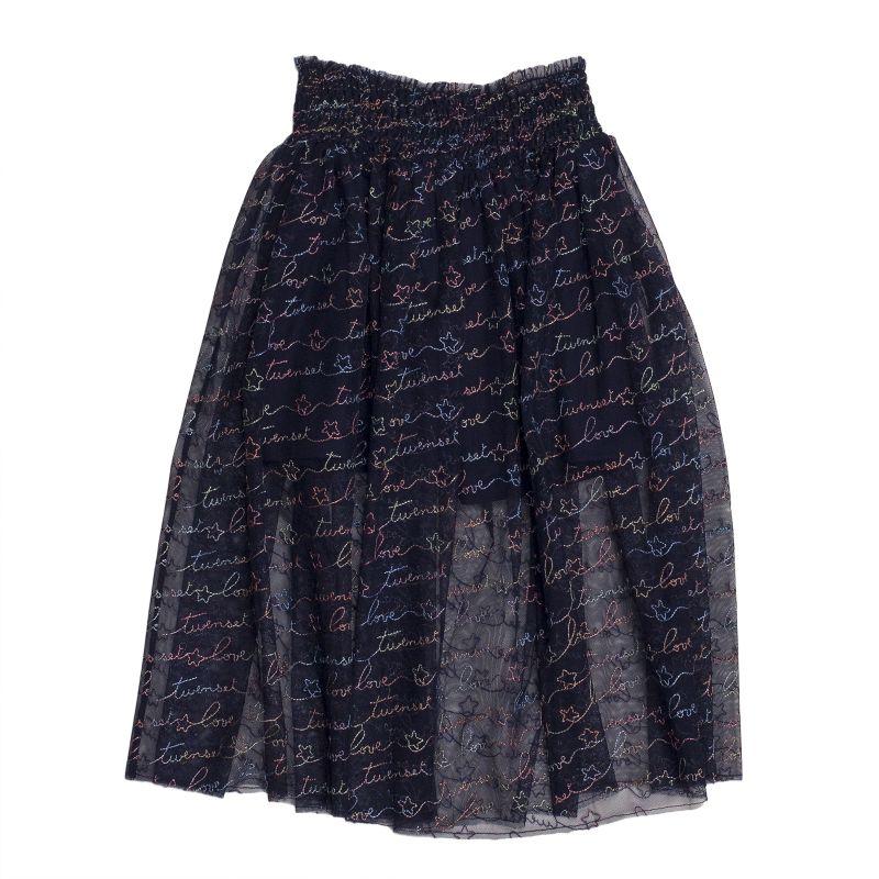 Пышная юбка из расшитого тюля для девочки