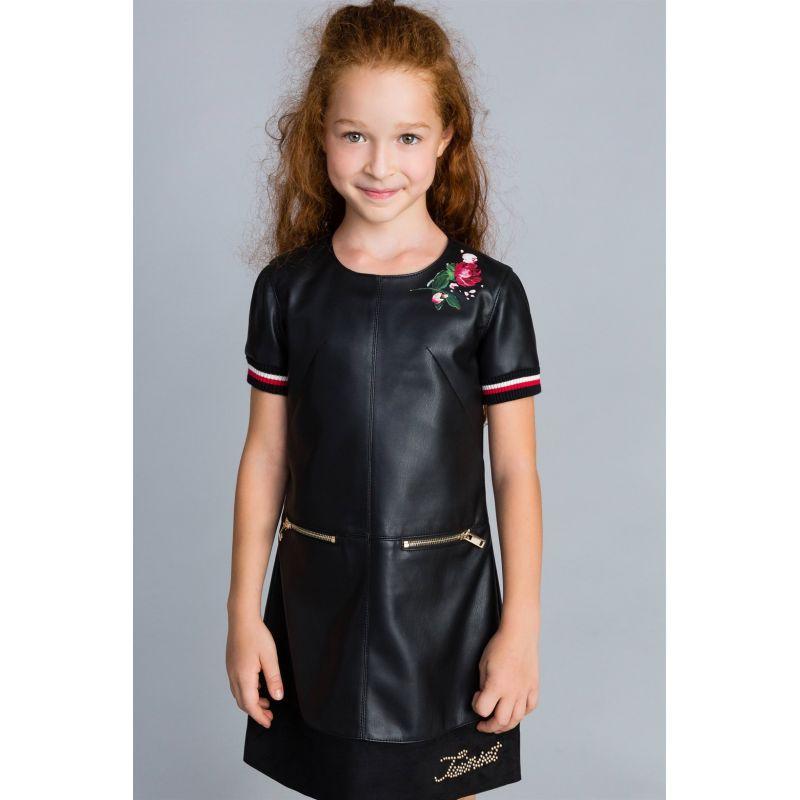 Платье из кожзама для девочки
