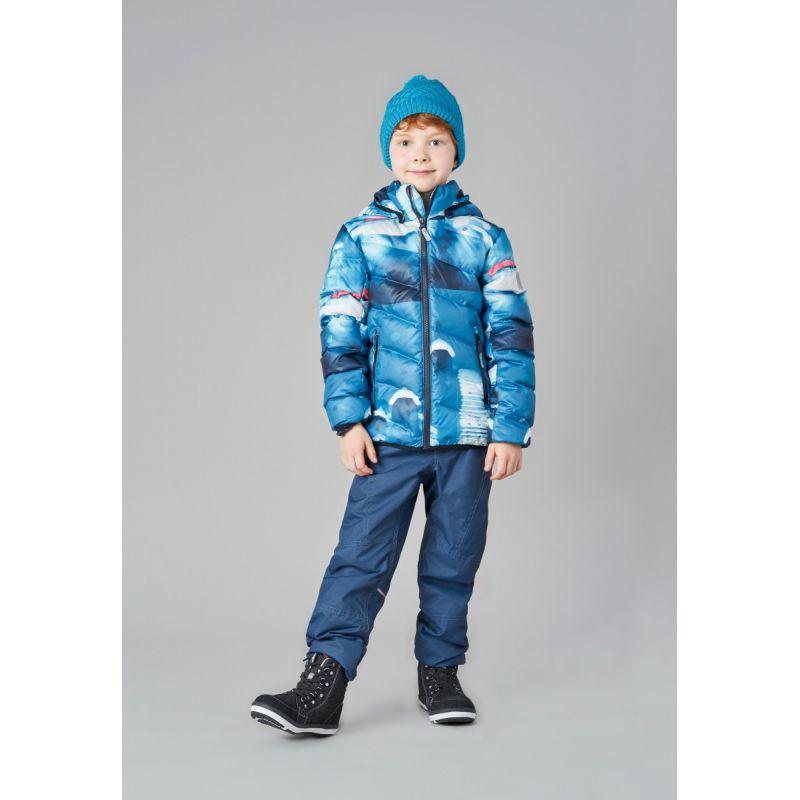 Пуховик для мальчика Soren сине-голубой